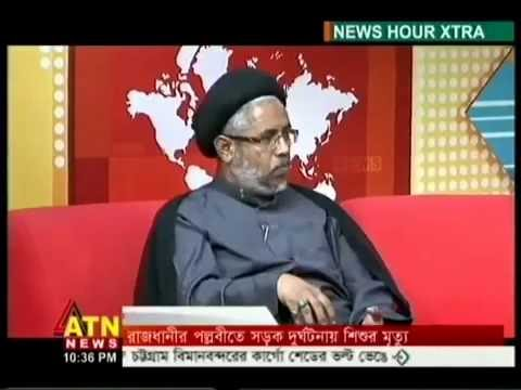 "Hujjatul Islam Syed Ibrahim Khalil Razavi giving interview to ""ATN News"""