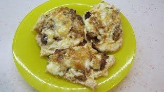 Отбивные с грибами, из куриных грудок. Домашняя кухня.