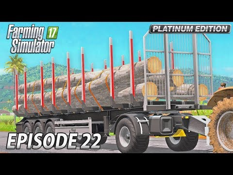 FREIGHT LOG CRANE | Farming Simulator 17 Platinum Edition | Estancia Lapacho - Episode 22