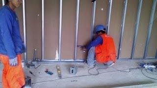 Drywall Lima Perú █▓▒░ Como trabajar sobre el sistema drywall