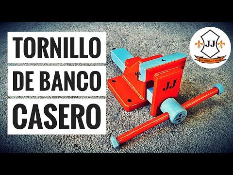 CÓMO HACER UN TORNILLO DE BANCO CASERO  - HOMEMADE BENCH VISE JJ HERRERIA