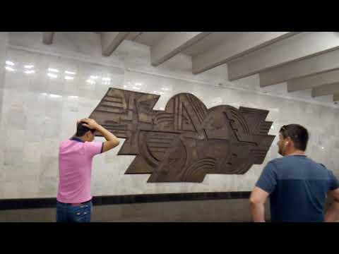 Москва 619 станция метро Домодедовская, ТРЦ Домодедовский осень день