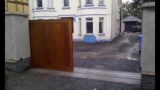 Hardwood Sliding Gate Manufactured And Installed By Timbergate.co.uk