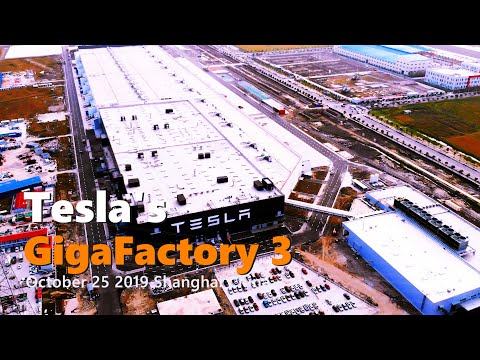 (Oct 25 2019)Tesla Gigafactory 3 in Shanghai Construction Update 4K 上海特斯拉超级工厂3 建造进度更新