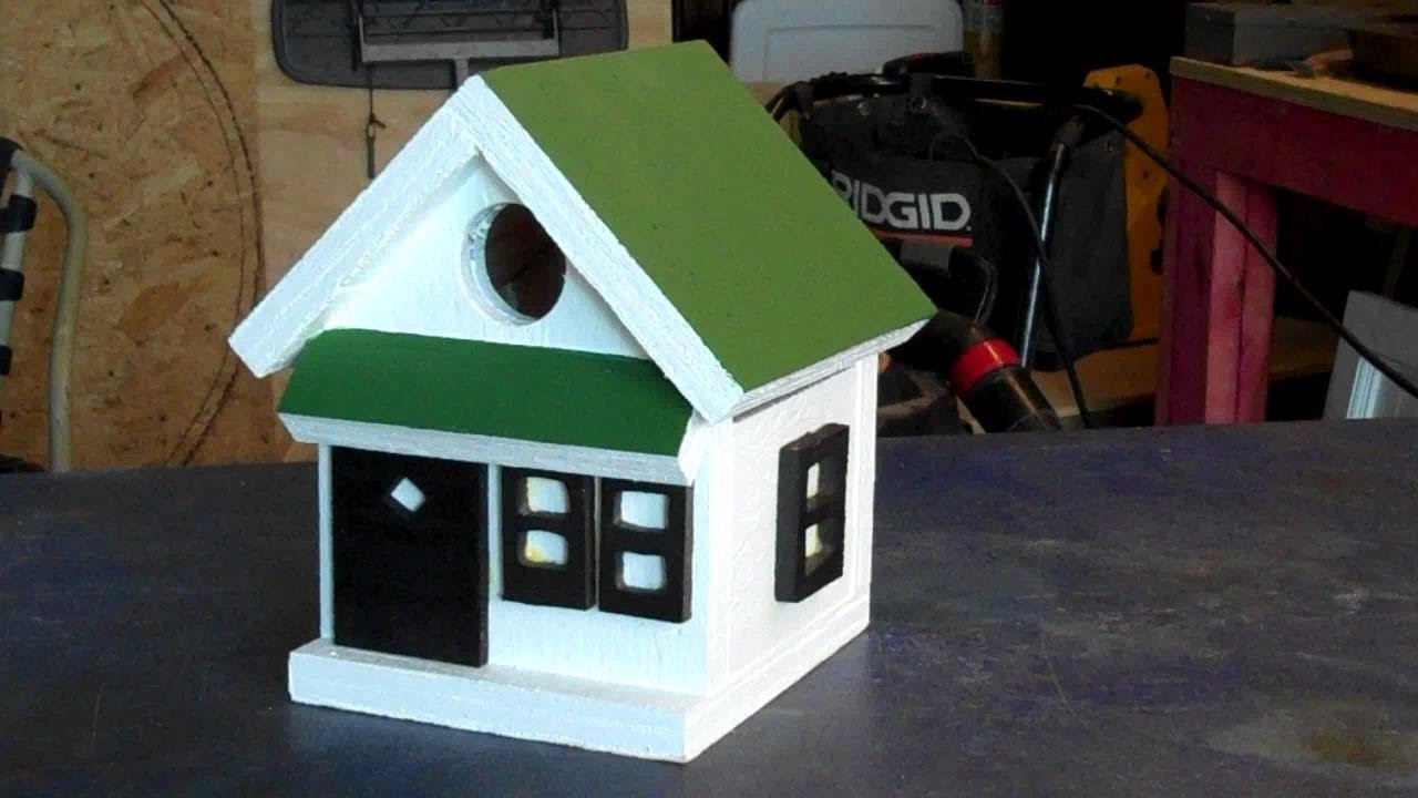 Making fast and easy bird houses youtube for How to build my house