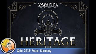 Vampire: The Masquerade – Heritage — game preview at SPIEL '18