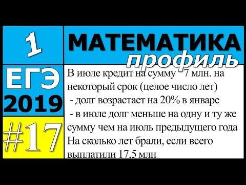 17 задание ЕГЭ по математике профиль. №1