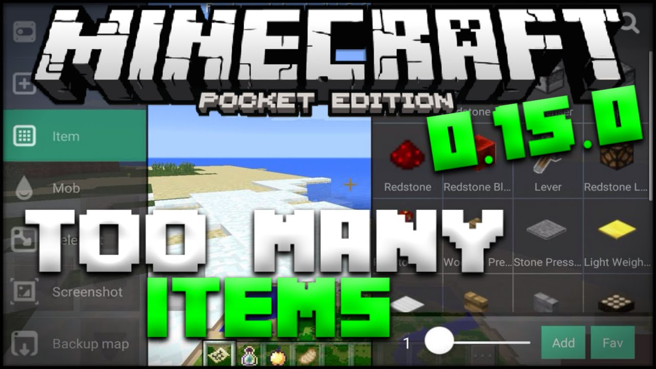 Minecraft PE Too Many Items Mod - Best Inventory Editor for MCPE 0 15 0  Realms (Pocket Edition)