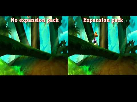 Rayman 2 N64 expansion pack comparison