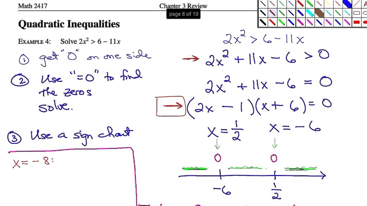 How to solve inequalities 53