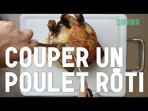 couper-un-poulet-rôti-|-cuisine