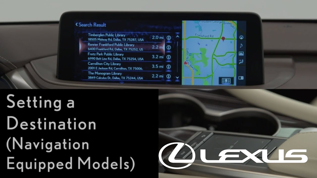 How To Set A Destination With Navigation Lexus Rx Youtube