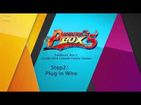 Pandora Box 5 960 in 1 Arcade stick Console installation tutorial