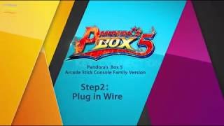 Pandora Box 5 960 in 1 Arcade stick Console installation tutorial
