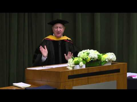 Howard Morgan, venture capitalist,  speaks to 2017 Master of Financial Engineering (MFE)  grads
