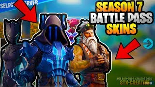 Fortnite SEASON 7 BATTLE PASS Skins LEAKED! Nouveau Saison 7 FuiteSkins! YETI, NINJA, ICE KING SKIN