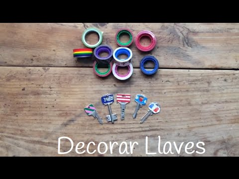 Ideas con washi tape para decorar tus llaves