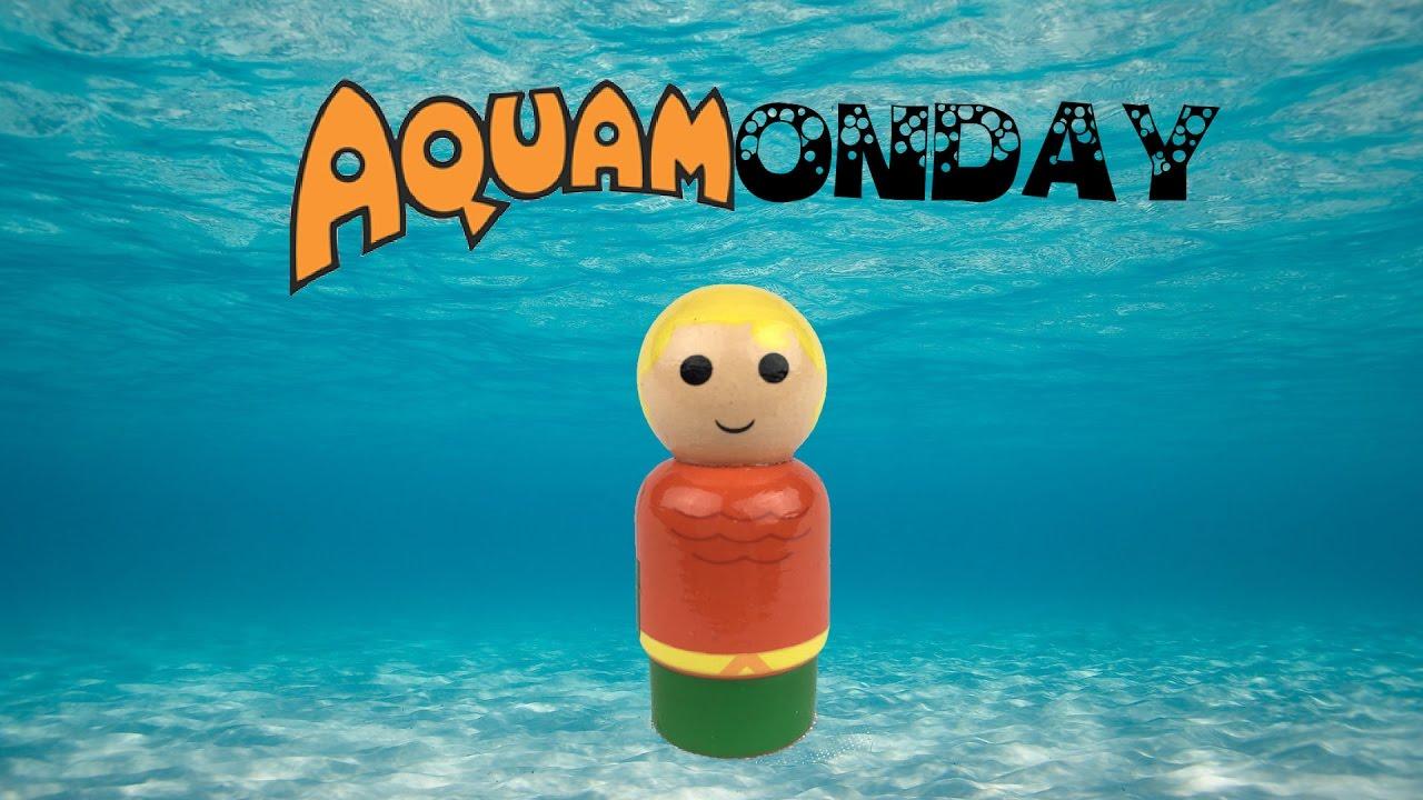 Justice League Aquaman Pin Mate Wooden Figure