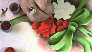Projeto Rosas Natalinas – caminho de mesa por Cristina Ribeiro