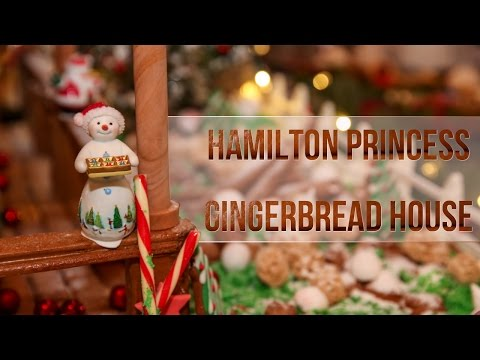 Hamilton Princess Gingerbread House, December 2016
