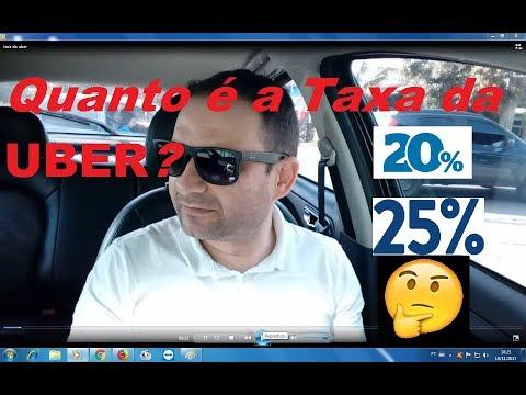 Quanto é a taxa da UBER?? 20% OU 25%