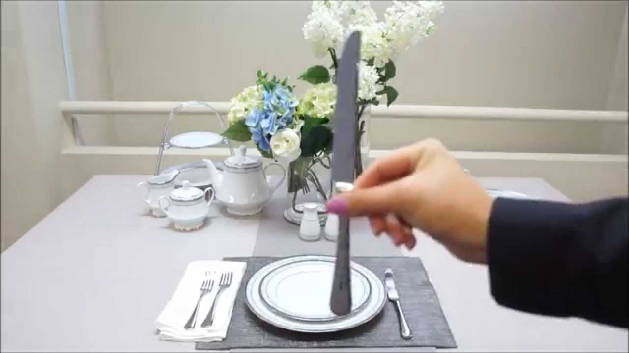 How to set a formal table setting by noritake australia for How do i set a table