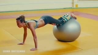 Упражнения на мяче для красоты животика , талии и ягодиц.Часть 1. Фитнес с мячом/Фитнесбол/Фитбол/