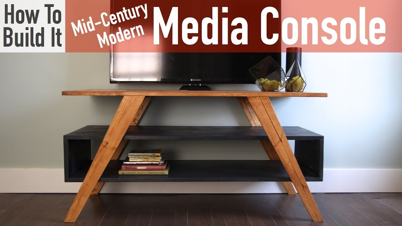 how to build a mid century modern media console youtube. Black Bedroom Furniture Sets. Home Design Ideas