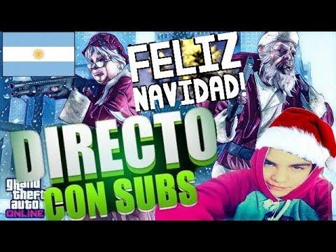 LLEGO LA NAVIDAD EN GTA V ONLINE!!! Con Suscriptores!!!  (Argentina) (Ps4)
