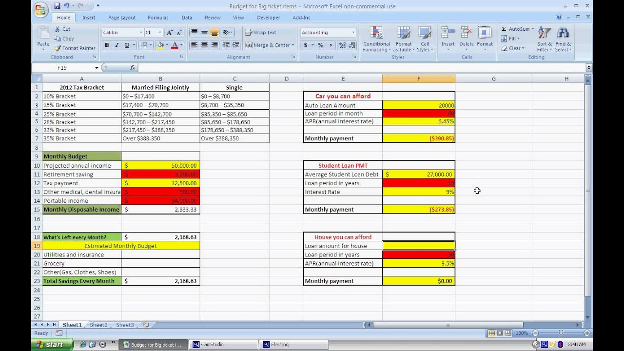 Simple Personal Budget W Excel And Download Link Itm 250 Kb Kw And Cr