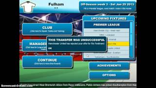 Ultimate Football Manager Part 1