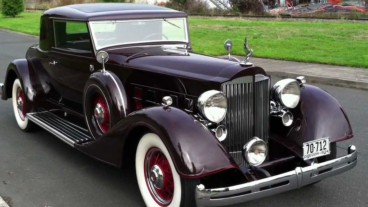 RM Sotheby's - 1934 Packard Super Eight Coupe Roadster | Amelia ...