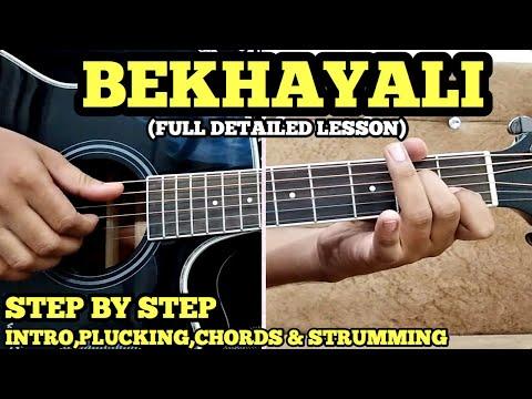bekhayali-guitar-chords-lesson-w/-intro,-arpeggios,fingerplucking-&-strumming-|-fuxino-|-kabir-singh