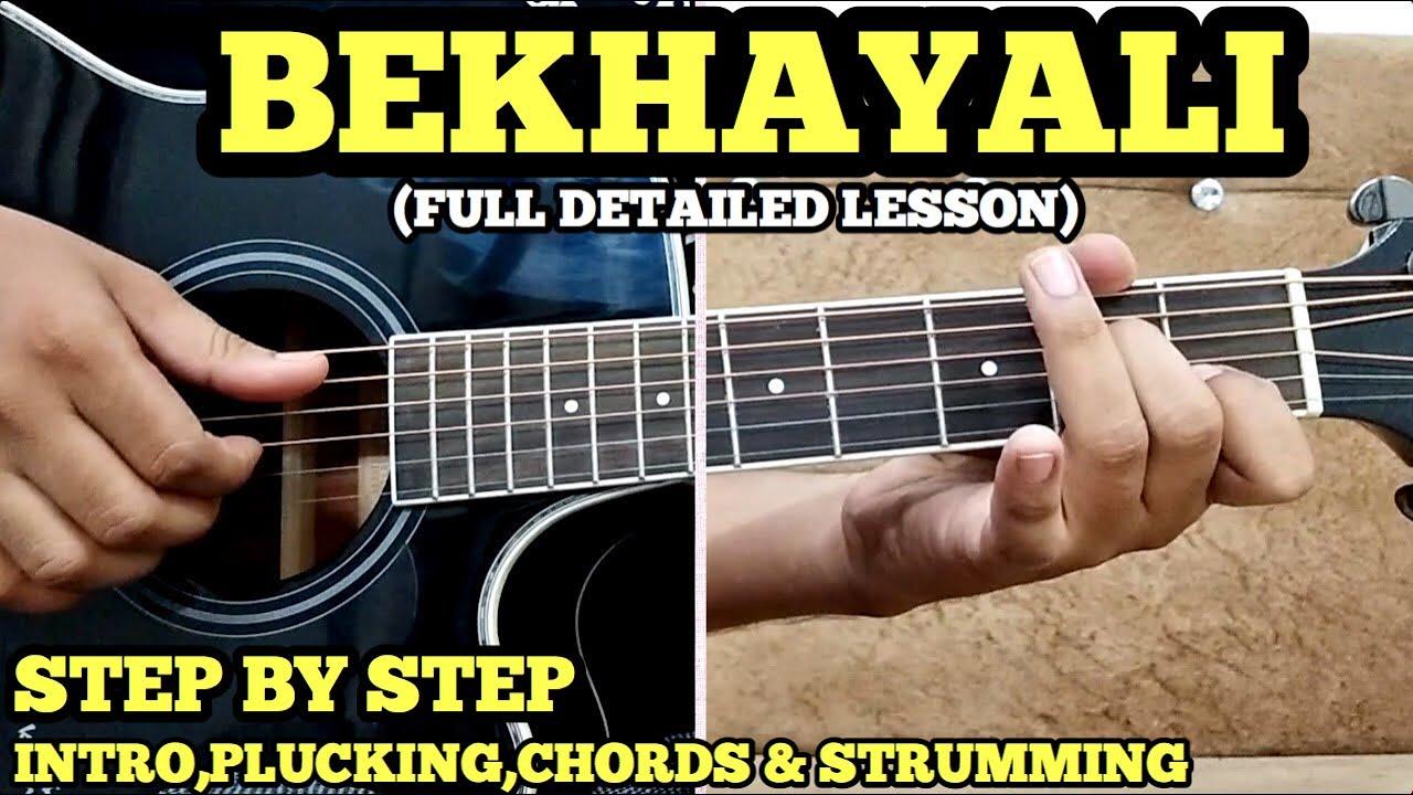 Bekhayali Guitar Chords Lesson w/ intro, arpeggios & strumming by FUXiNO | KABIR SINGH