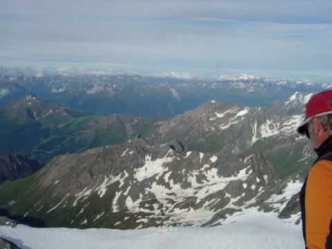 Nice view from the top of Austrian Alps, Grossglockner 3798 m
