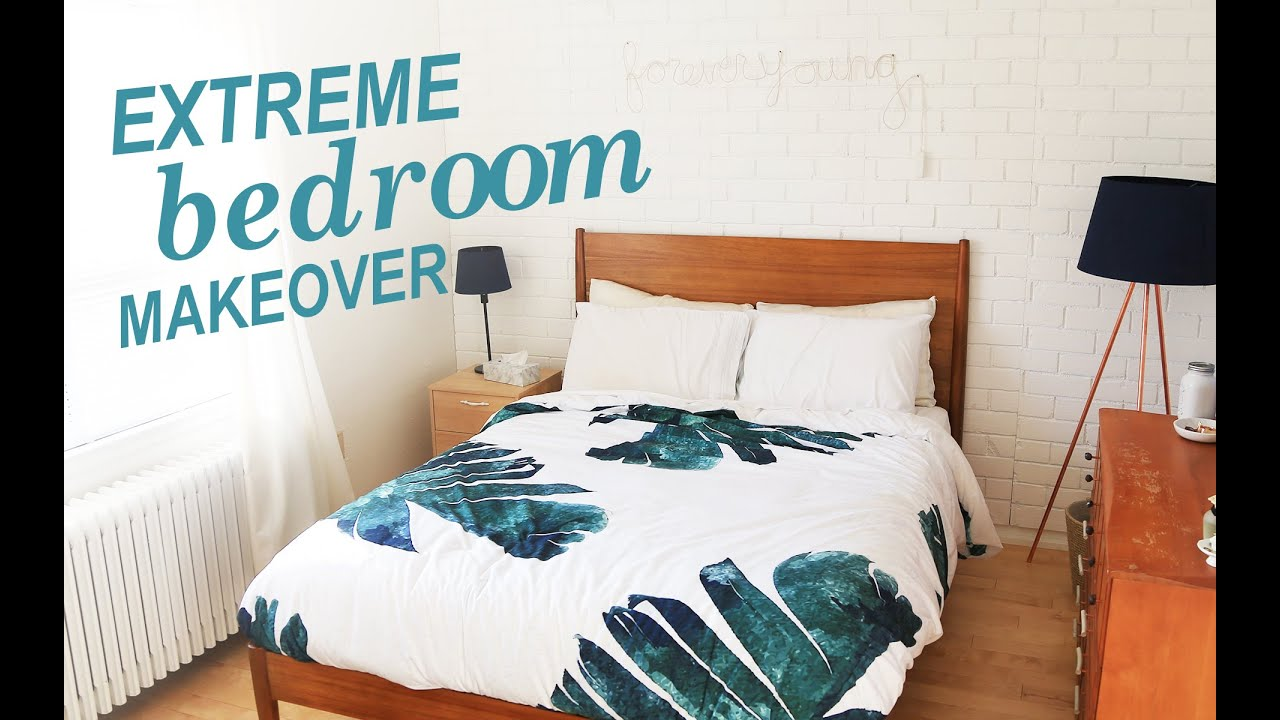 EXTREME BEDROOM MAKEOVER | THE SORRY GIRLS - YouTube