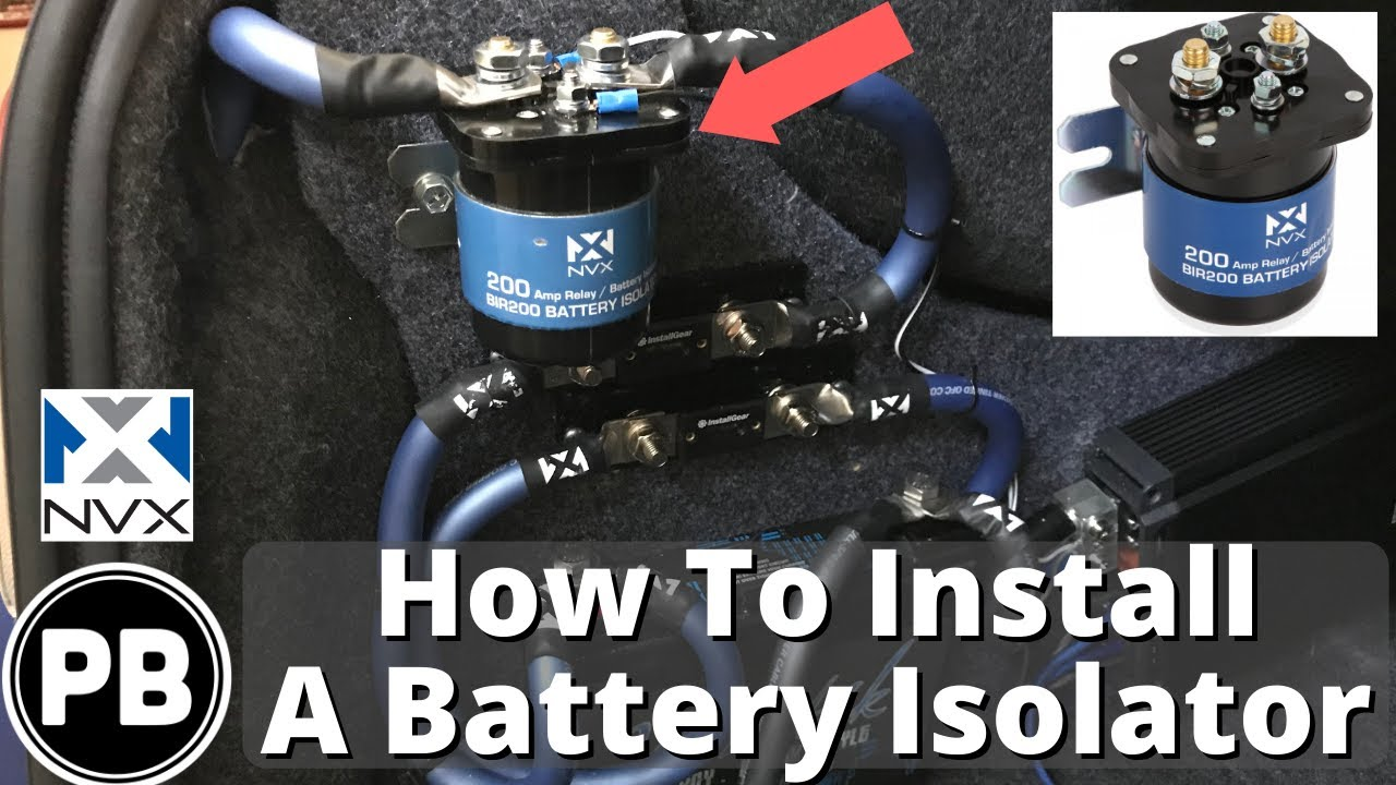 small resolution of car battery isolators explained how to install on your car