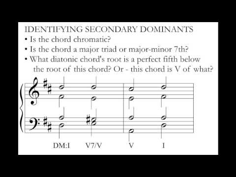 Music Theory: Secondary Dominants.
