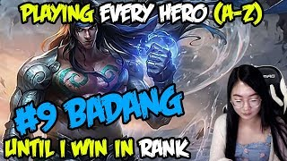 A-Z Hero Challenge | Badang until I Win in Rank! (With Subtitle)