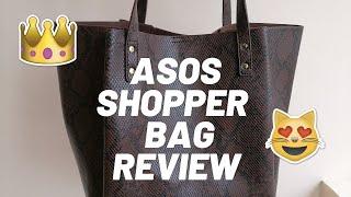 ASOS SHOPPER BAG REVIEW: ASOS bonded shopper bag with tablet case - IS IT WORTH IT?