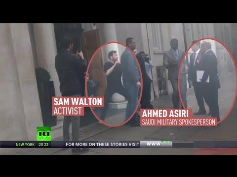 'War criminal should be investigated not welcomed' – Activist tries to arrest Saudi General