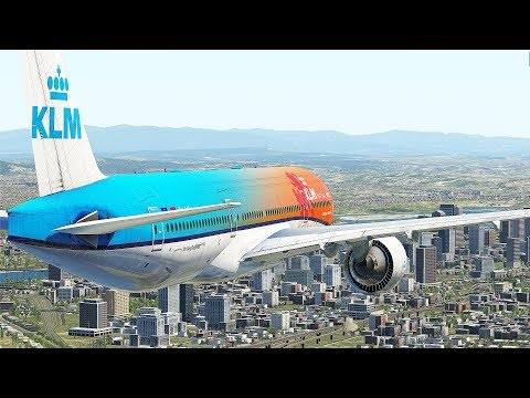777 Take Off Into Beautiful Airport | X-Plane 11