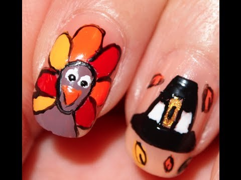 Thanksgiving Turkey Nails Youtube