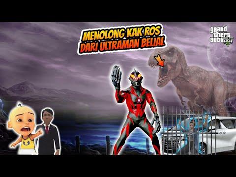 Menolong Kak Ros Dari Ultraman Belial, Upin Dan Sultan Bocil Bersatu Dengan Dinosaurus, GTA5
