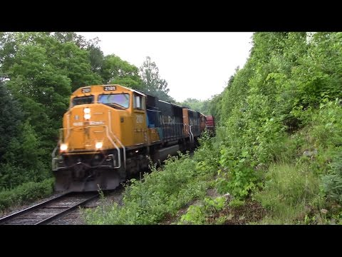 Call of the Northland! Ontario Northland train 113 at Sand Dam with 2101 and 1734 (July 20, 2016)