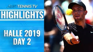 Federer, Tsonga Set Meeting; Defending Champ Coric Through | Halle 2019 Highlights Day 2