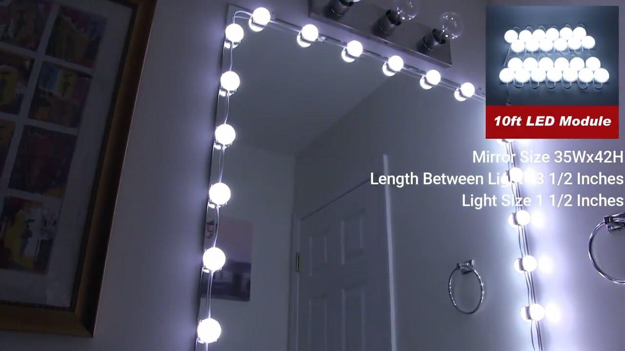 Make Up Mirror Led Light Kit Review Crystal Vision Youtube