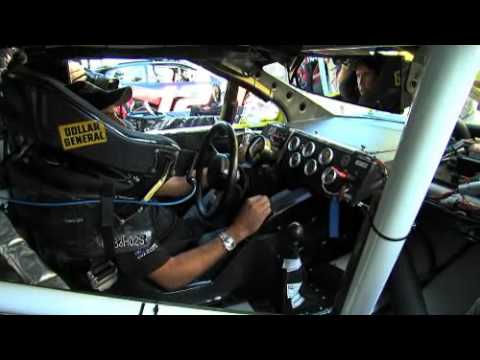 Looking at the interior of a NASCAR race car!.flv
