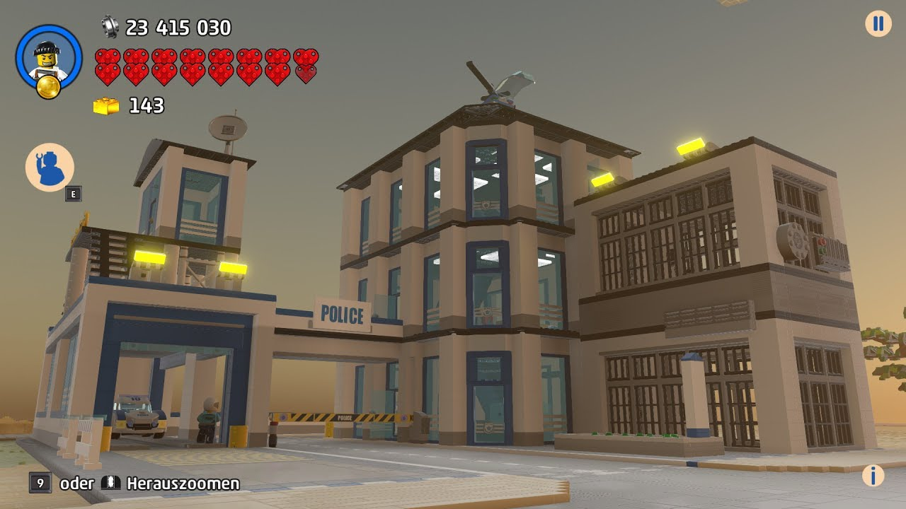 LEGO Worlds - The new police station in my beautiful LEGO ...