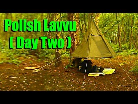 Polish Army Lavvu Tent ( Day Two Rain ) & Polish Army Lavvu Tent ( Day Two: Rain ) - YouTube